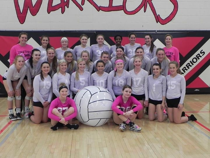 2016-2017 Volleyball team